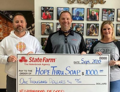 State Farm Agency Gifts Hope thru Soap
